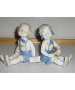 Vintage Blue & White Figurines - Twins - Boy & ... - $15.00