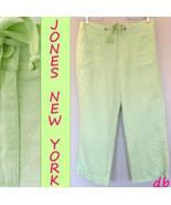 JONES New York SPORT capri PANTS linen CITRUS l... - $20.06