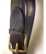 FENDI S.A.S. MEN'S STRIPED BLACK & TAN LEATHER ... - $129.99