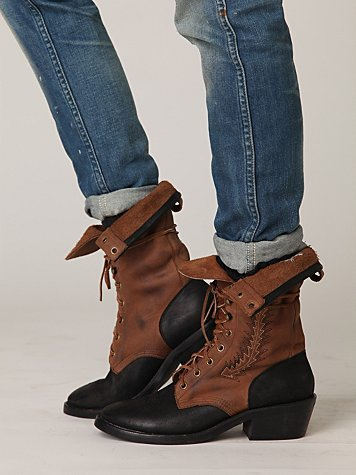  Limited Edition Jeffrey Campbell Roper  Field Lace Up Boots
