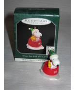 Hallmark Winter Fun With Snoopy #1 Miniature Ornament 1998