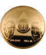 22 Year AA Gold Tone Alcoholic Recovery Medalli... - $13.50