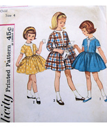 Simplicity 4662 Vintage 50s Pattern Girls Party... - $9.95