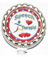 Speech Therapist PT ID badge holder w retractable reel pt,ot,st 6