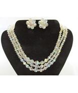 Vintage Three Strand Aurora Borealis Crystal Ne... - $30.00