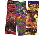 Buy Announcements - Printed ~ Spider-man and Villains ticket Invitations &amp; Party