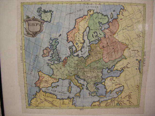 1760 orig BOD PETER map EUROPE Italy Poland Spain RARE!
