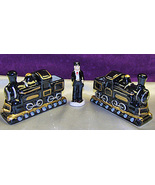 Ceramic Train Railroad Locomotives and Conducto... - $7.49