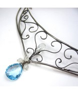 Filigree and Blue Topaz Necklace - $134.00