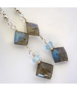 Labradorite and Topaz Earrings - $25.00