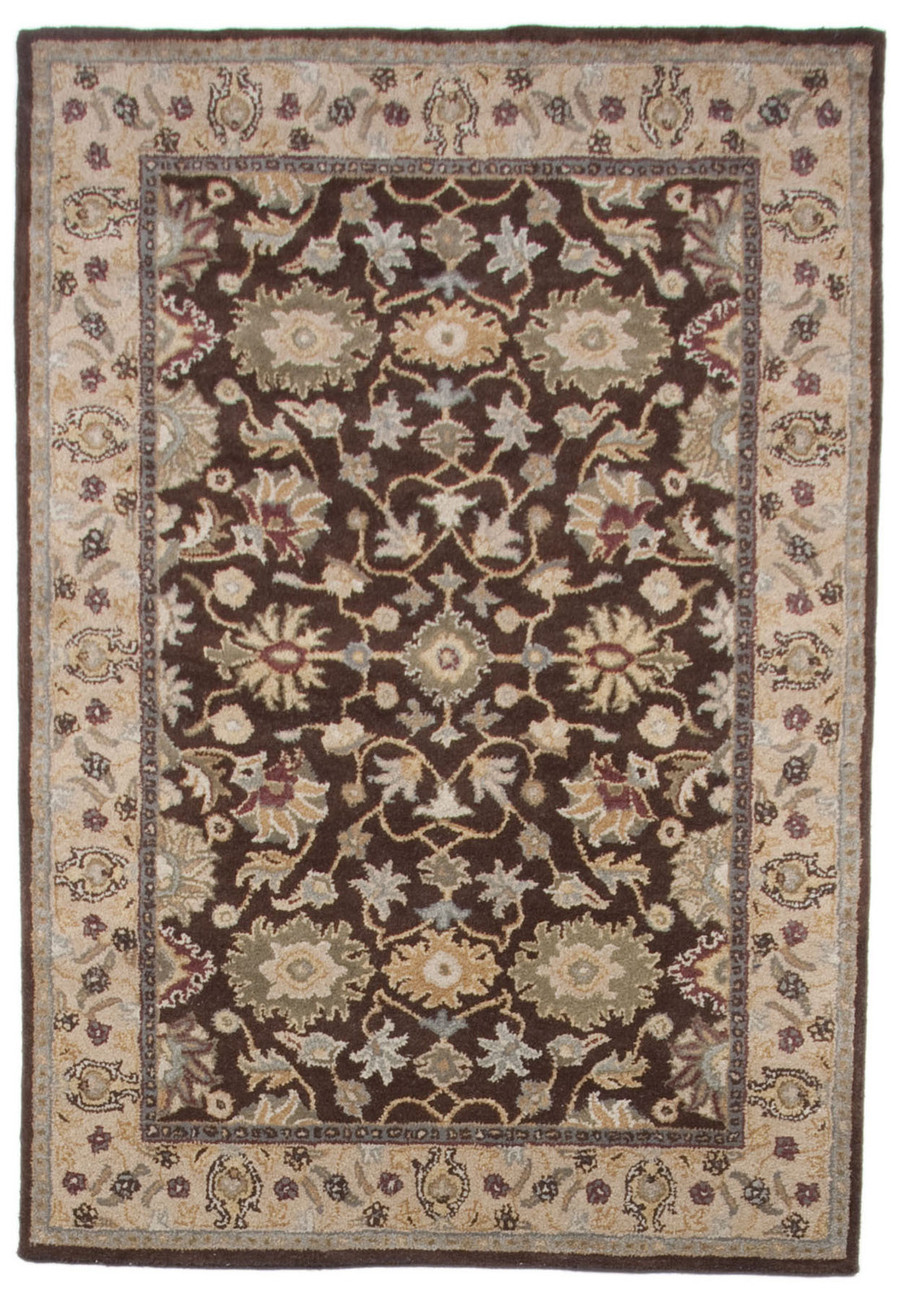5x8 Traditional Persian Heritage Handtufted Wool Area Rug Carpet Brown Beige