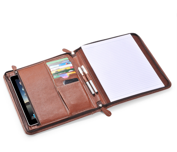 iPad handle case leather iPad folio case for iPad 2 - Wasco