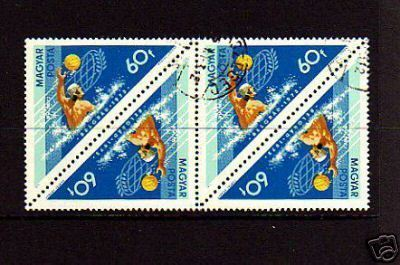 HUNGARY - 1972 -  OLYMPICS -  WATER POLO - BLOCK OF 4!