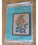 Vintage Crewel Picture Kit, Goldenrod Flower Cr... - $8.00