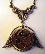 Steampunk MECH FLIGHT Wing Clock Necklace Thinn... - $22.79