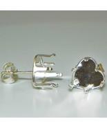 8mm Heart Snap Tite Sterling Silver Earring Set... - $2.79