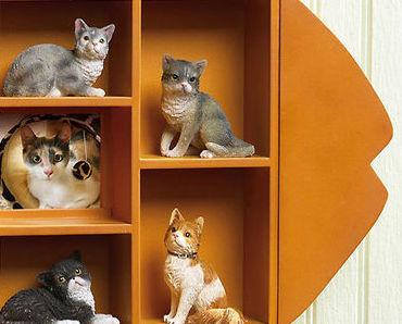 Image 3 of Fish Shape Shadow Box Wooden Wall Display Shelf