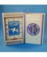 Match Box Miniature Clock Dairy Made Ice Cream ... - $15.99