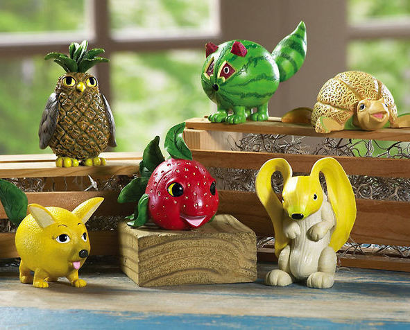 Animal And Fruit Shelf Sitters New