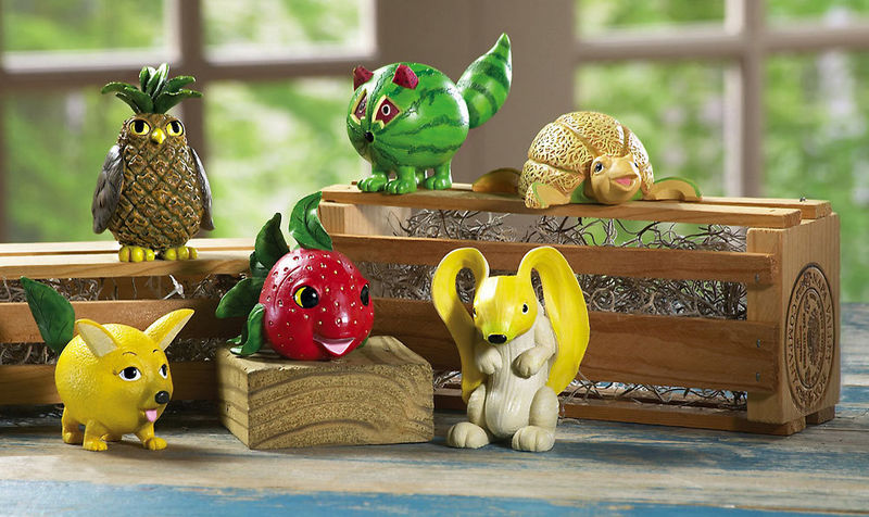 Image 1 of Animal And Fruit Shelf Sitters New