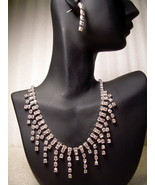 GENUINE AUSTRIAN CRYSTAL JEWELRY SET Necklace &... - $12.50