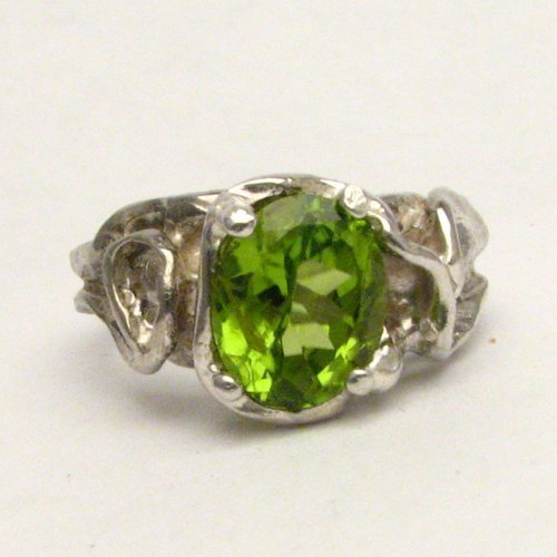 Gophic Peridot Solid Sterling Silver also in 14kt Gemstone Ring