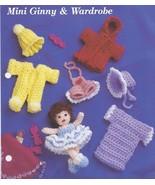 Mini Ginny & Wardrobe~Doll & Clothing Crochet P... - £8.23 GBP