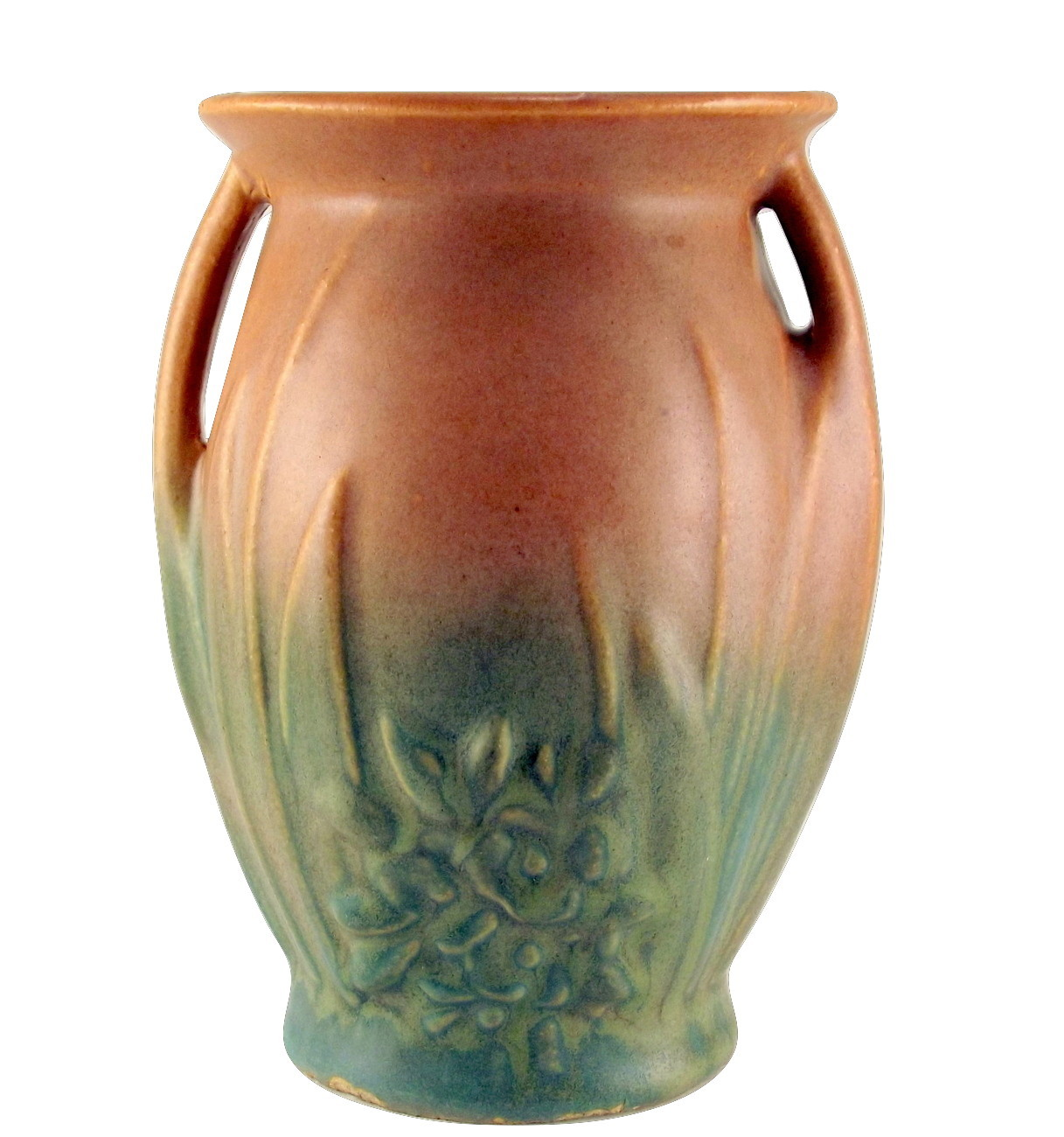 Nelson McCoy Blended Glaze Art Pottery Vase Matte Brown