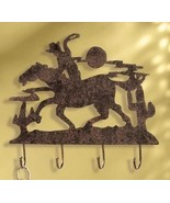 Wall Hooks Western Cowboy and Horse Hat Key Rack - $23.00