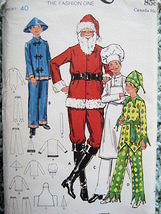 Butterick 6399 Vintage Santa Chinaman Joker Chef  Mens 40 Christmas