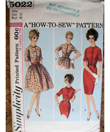 Simplicity 5022 Vintage 50s Pattern Womans Full... - $9.95
