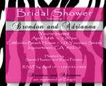 Buy Announcements - Bridal Baby Birthday Shower Invitation ZEBRA Print MANY