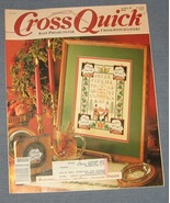 Cross Quick Cross Stitch Magazine Oct/Nov 1989 - $3.75