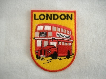 LONDON Embroidered Sew on Patch
