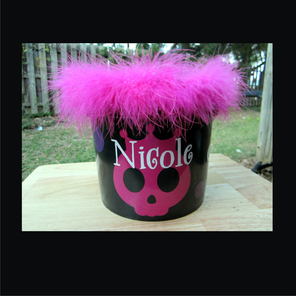2 - Personalized Halloween Bucket -  Choice of design, color