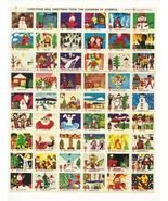 1975 Christmas Seal Sheet, Mint Condition, Amer... - $3.50