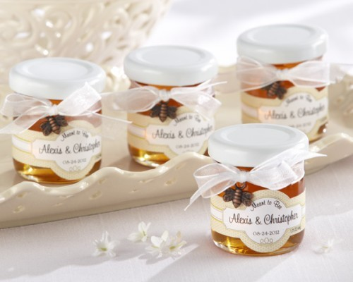 48 Meant to Bee Personalized Wedding Shower Favor Jars w Honey Bee