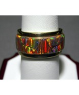 14k Solid Gold Opal Ring 11.6 grams Size 8.5 Re... - $700.00