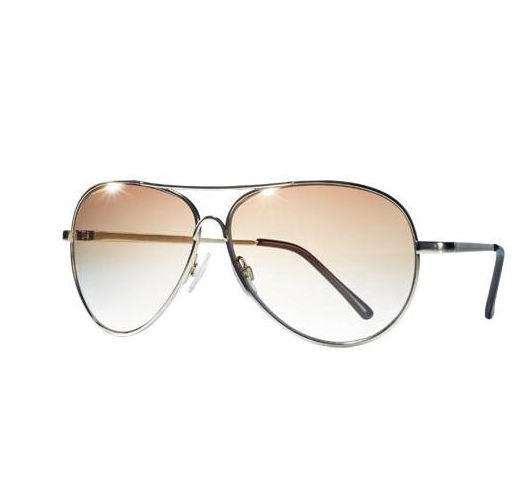 Graduated Goldtone Aviator Shades - Avon mark Sunglasses