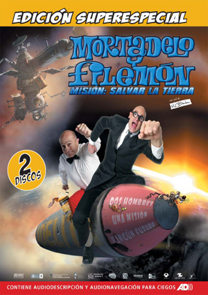 Mortadelo Y Filemon 2 x Dvd Mision Salvar La Tierra Spanish