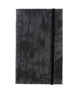 GRAY CHARCOAL FAUX LEATHER STONE PRINT HARDBACK... - $11.99