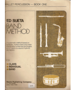 Ed Sueta Band Method Mallet Percussion Book One - $2.50