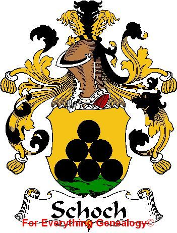 Schoch German Coat of Arms Schoch Family Crest