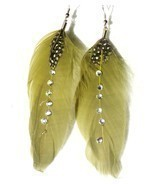 Olive Green feathered Feather 3