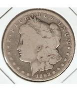 1893-CC Morgan Silver Dollar Rare Circulated coin - $175.95