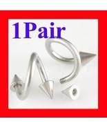 16g~6mm Spiral Twister Eyebrow Ear Plugs Pierci... - $6.99