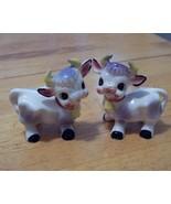 Vintage set of Purple Cow Salt & Pepper Shakers - $9.99