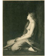 Attractive 19th Century Engraving of FEMALE NUDE - $10.00
