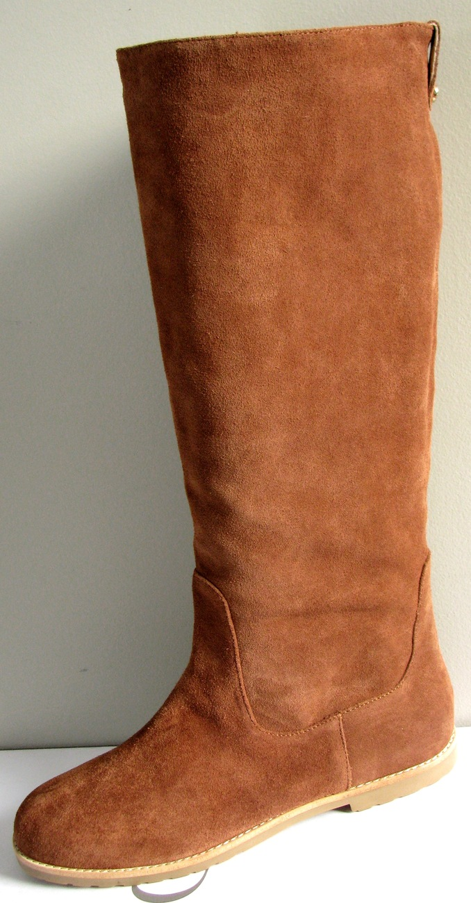 MICHAEL KORS KENTON VICUNA TALL SUEDE PULL ON RIDING FLAT BOOTS US 11