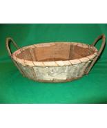 Hand Made Birch Basket, Folk Art, Birch Bark and Twigs, Unusual & Organic NICE! - $19.95